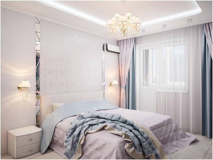 Дизайн-проект трехкомнатной квартиры 94 м2, 2015г: Спальни в . Автор – Artstyle