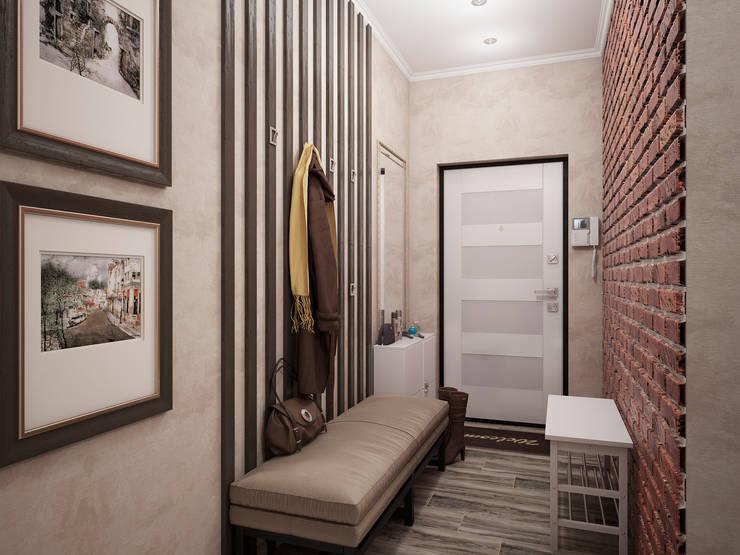 Дизайн-проект трехкомнатной квартиры 94 м2, 2015г: Коридор и прихожая в . Автор – Artstyle