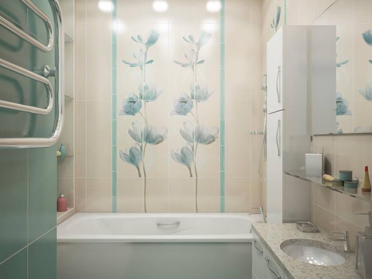 Дизайн-проект трехкомнатной квартиры 94 м2, 2015г: Ванные комнаты в . Автор – Artstyle