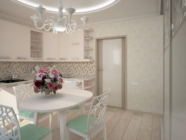 Дизайн-проект трехкомнатной квартиры 105 м2_ 2015г: Кухни в . Автор – Artstyle