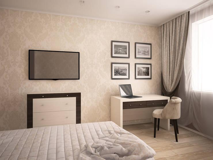 Дизайн-проект трехкомнатной квартиры 105 м2_ 2015г: Спальни в . Автор – Artstyle