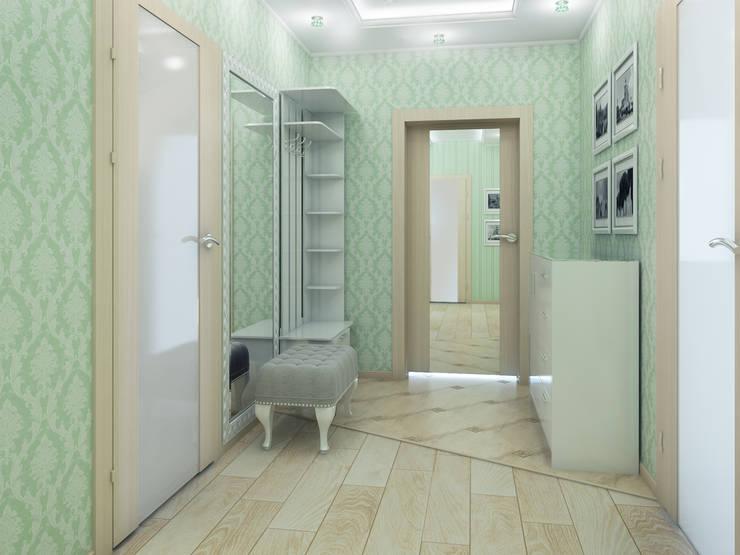 Дизайн-проект трехкомнатной квартиры 105 м2_ 2015г: Коридор и прихожая в . Автор – Artstyle