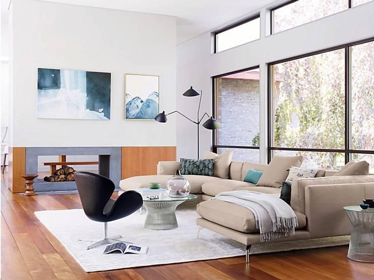 Como seccional con doble chaise : Salas de estilo  por Design Within Reach Mexico