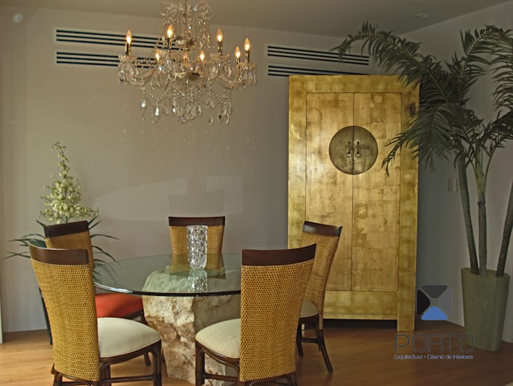 Comedores de estilo  por PORTO Arquitectura + Diseño de Interiores