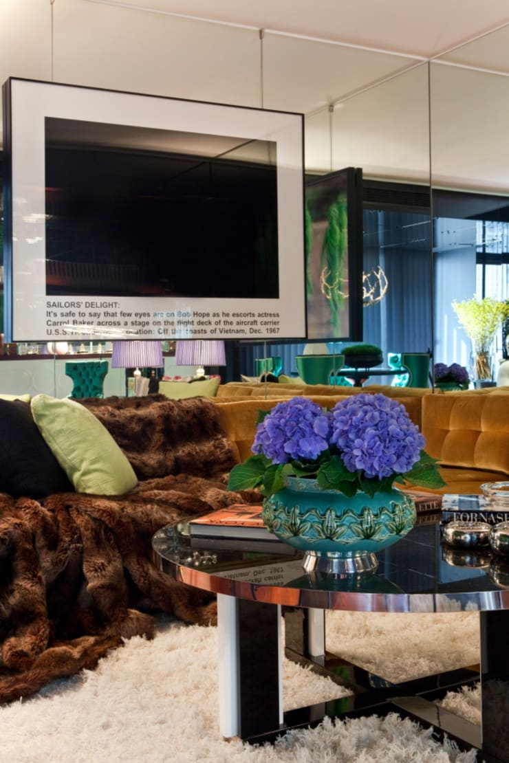 Salones de estilo ecléctico de Manuel Francisco Jorge interior Design Studio Ecléctico