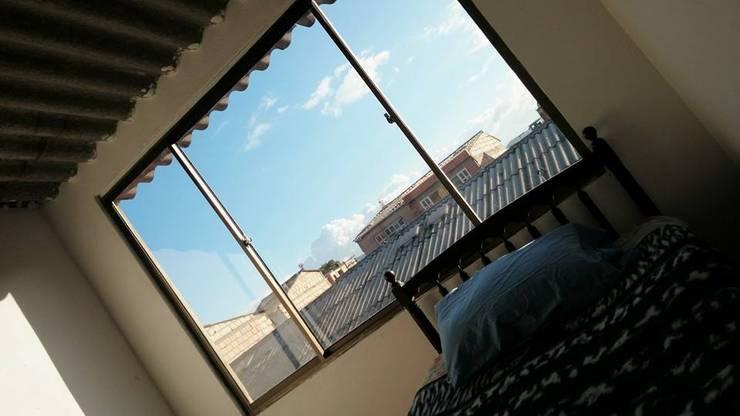 HABITACIÓN AUXILIAR.: Habitaciones de estilo  por MVP arquitectos, Clásico Madera Acabado en madera
