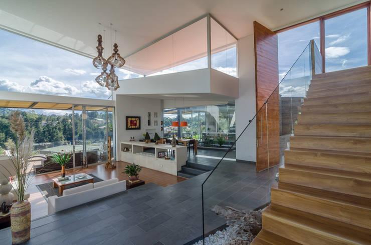 interior social: Pasillos y vestíbulos de estilo  por PLANTA BAJA ESTUDIO DE ARQUITECTURA