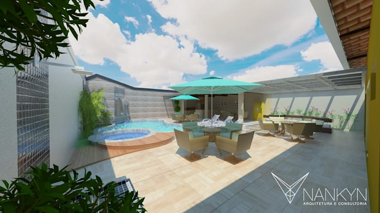Ára de Lazer 2: Terraços  por Nankyn Arquitetura & Consultoria