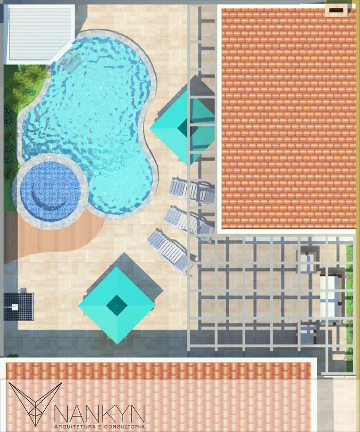 Layout Ilustrado: Terraços  por Nankyn Arquitetura & Consultoria