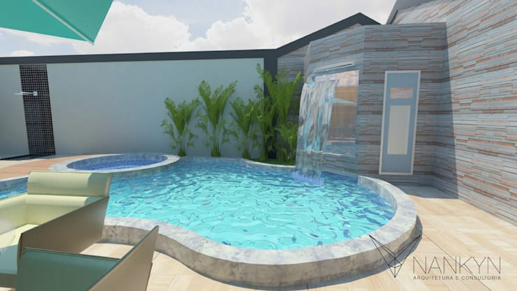 Área de Lazer 5: Piscinas modernas por Nankyn Arquitetura & Consultoria