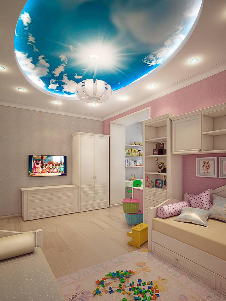 Детская для 2 деток: Детские комнаты в . Автор – Алина  Насонова,