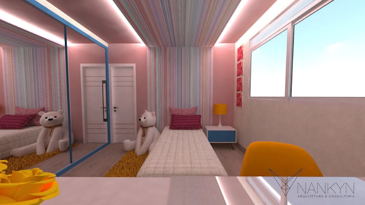 SQ1: Quarto infantil  por Nankyn Arquitetura & Consultoria ,