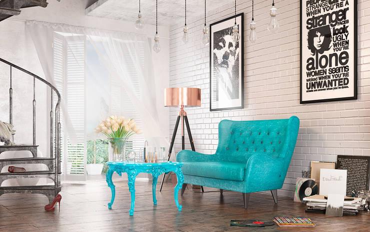 Living room (summer) view2: Гостиная в . Автор – Дмитрий Каючкин