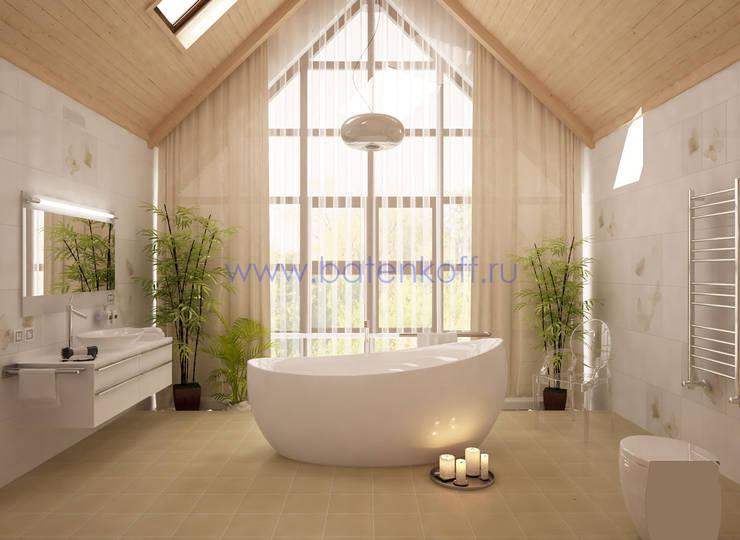 Дизайн проект ванной комнаты в доме из бруса: Спа в . Автор – Дизайн студия 'Дизайнер интерьера № 1'