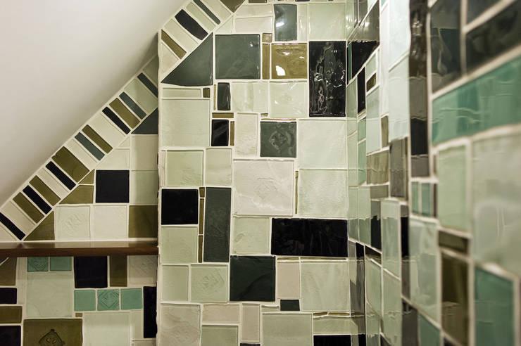 mozaika szklana: styl , w kategorii Łazienka zaprojektowany przez unikatowe kafelki