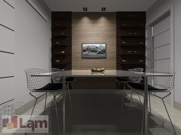 Sala de Jantar - Projeto:   por LAM Arquitetura   Interiores