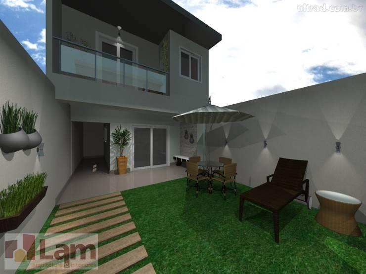 Varanda - Projeto:   por LAM Arquitetura | Interiores