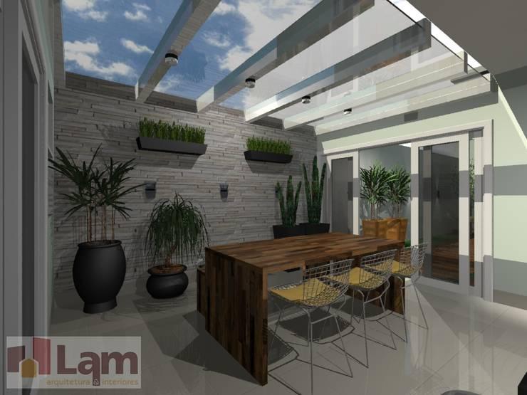 Varanda Gourmet - Projeto:   por LAM Arquitetura | Interiores