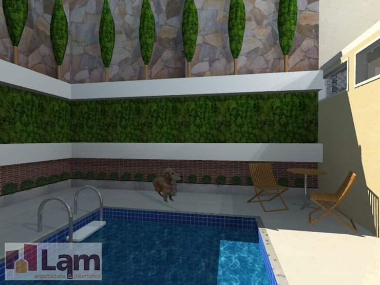 Área de Lazer - Projeto:   por LAM Arquitetura | Interiores