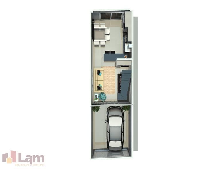 Vista Superior - Projeto:   por LAM Arquitetura | Interiores