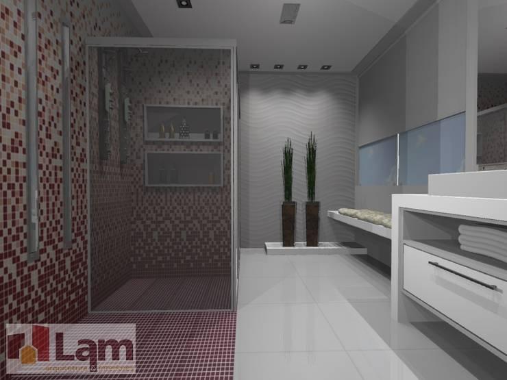 Banheiro - Projeto:   por LAM Arquitetura | Interiores