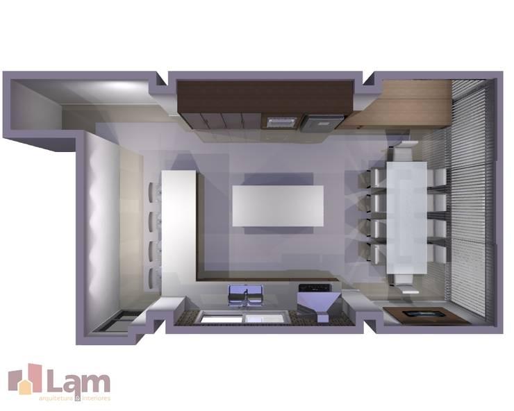 Cozinha / Sala de Jantar - Projeto:   por LAM Arquitetura | Interiores