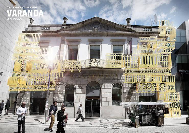 Varandas: Casas  por FAHR 021.3