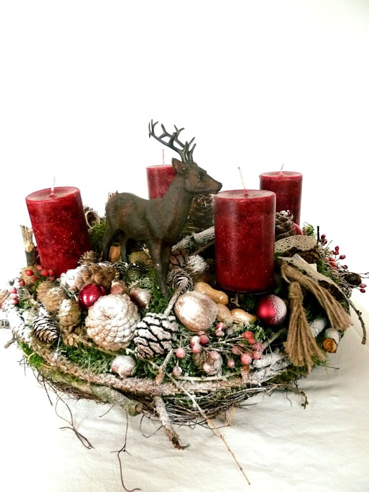 Weihnachtsdeko Kranz adventskranz , weihnachtsdeko , kranz von perla´s - polarstation