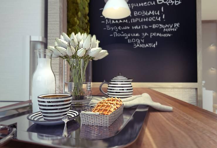 Проект квартиры для молодой пары с ребенком.: Кухни в . Автор – Katerina Butenko