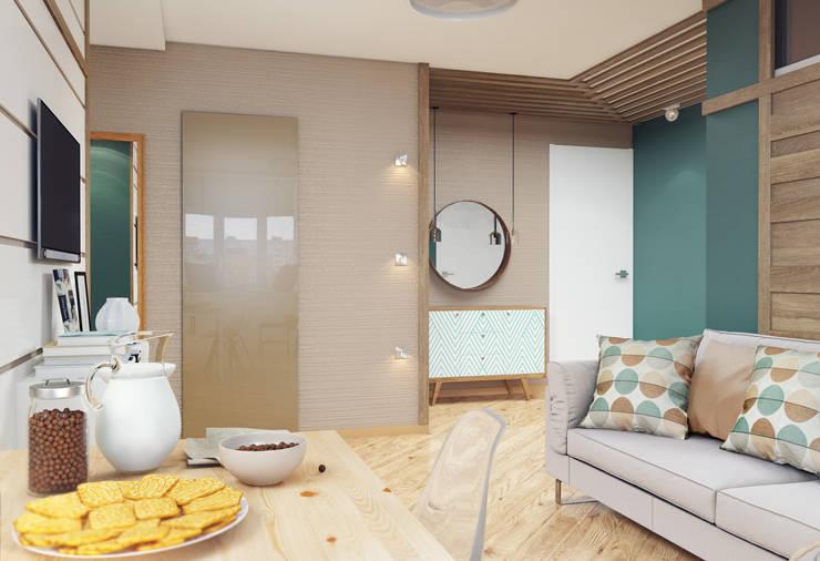 Проект квартиры для молодой пары с ребенком.: Коридор и прихожая в . Автор – Katerina Butenko