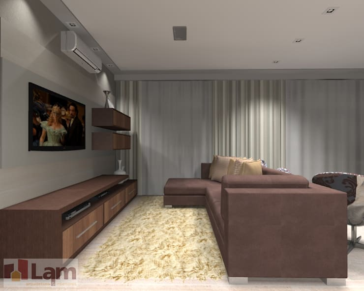 Sala de Estar - Projeto: Salas de estar  por LAM Arquitetura | Interiores