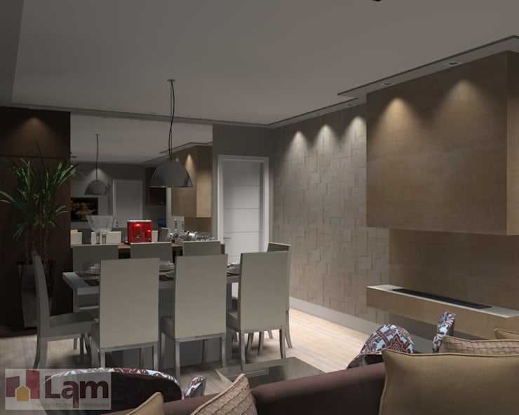 Sala de Jantar - Projeto: Salas de jantar  por LAM Arquitetura | Interiores