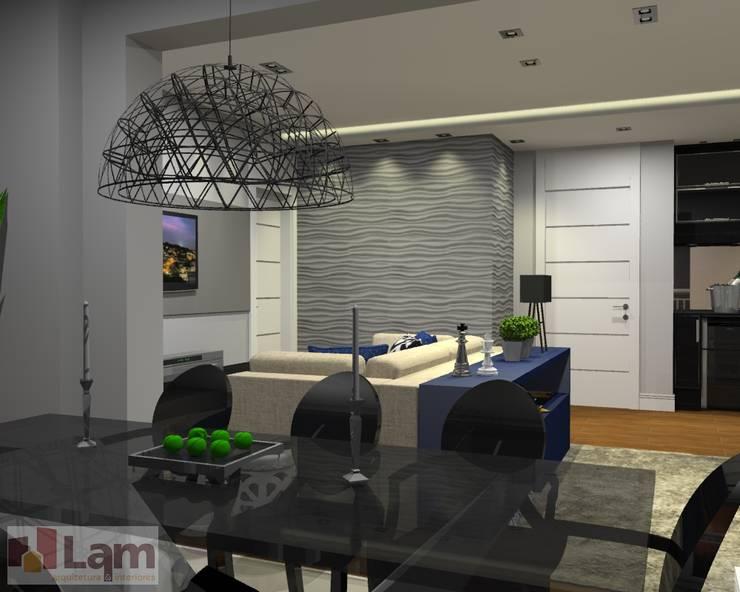 Terraço - Projeto:   por LAM Arquitetura | Interiores