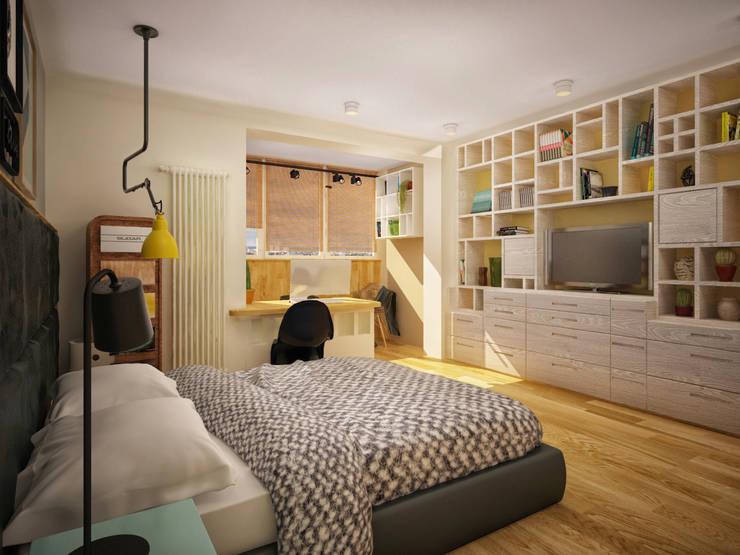 Квартира в Бутово: Спальни в . Автор – Tatiana Bezverkhaya Design