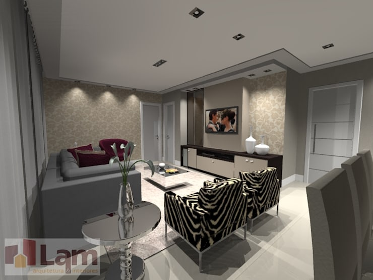 Sala de Estar - Projeto: Salas de estar  por LAM Arquitetura | Interiores,