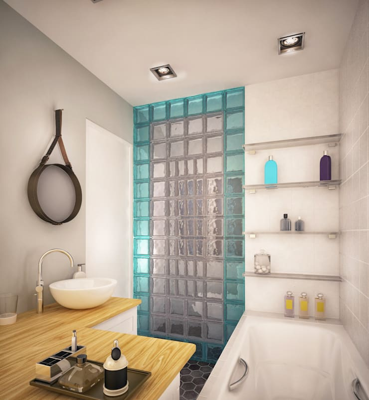 Квартира в Бутово: Ванные комнаты в . Автор – Tatiana Bezverkhaya Design