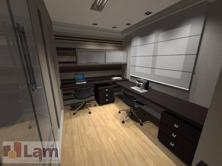 Home Office - Projeto: Escritórios  por LAM Arquitetura | Interiores,