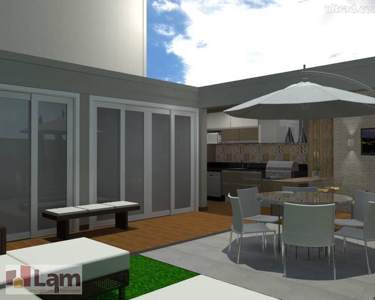 Varanda Gourmet - Projeto:   por LAM Arquitetura   Interiores