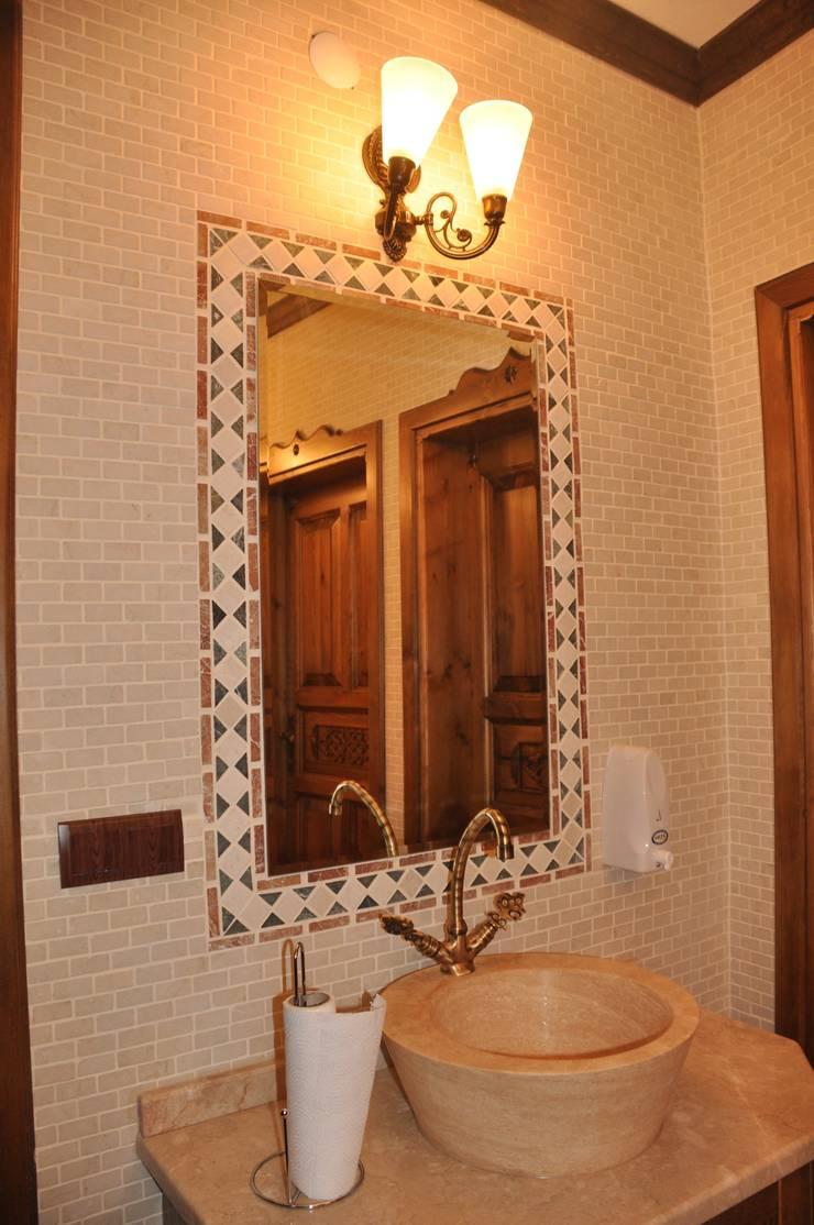 NSA NATURAL MARBLE – DOĞAL TAŞ SANATI:  tarz Banyo, Rustik Mozaik