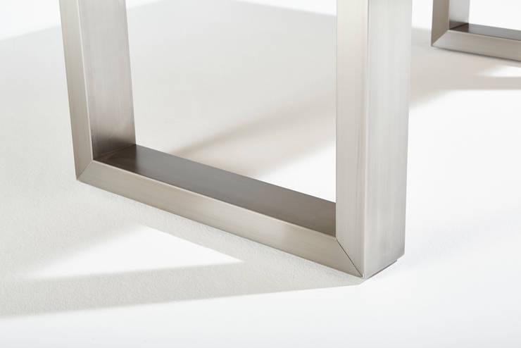 Esstisch holz glas design von rose handwerk homify for Esstisch glas holz design