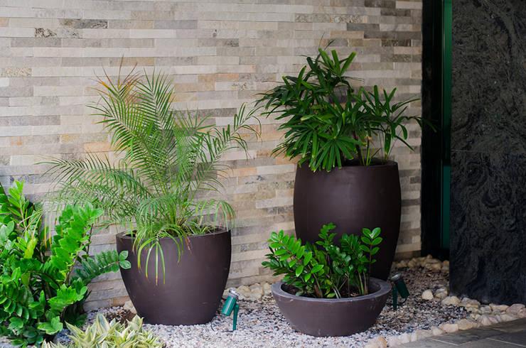 Hall Edifício Graças: Jardins  por Andressa Rangel Arquitetura e Interiores