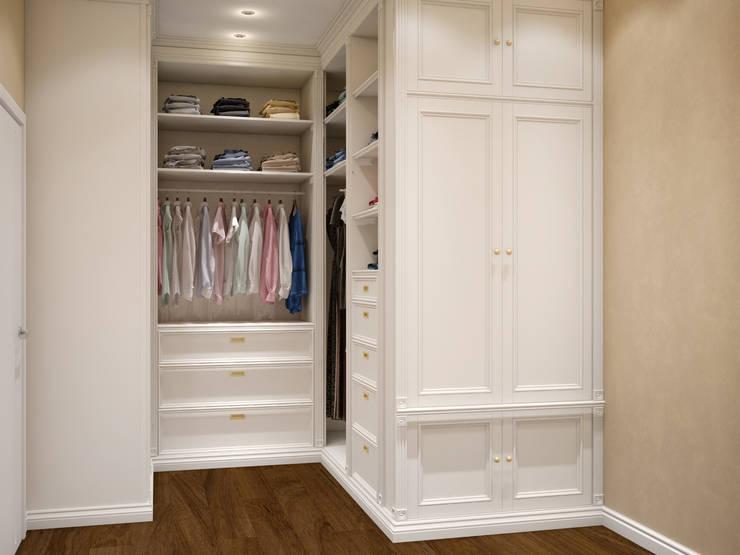 Closets de estilo  por Tatiana Zaitseva Design Studio