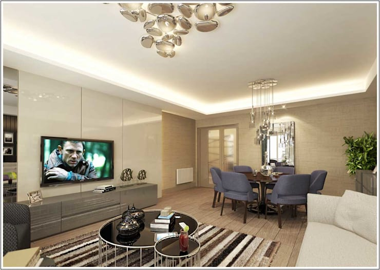 modern Living room by CCT INVESTMENTS