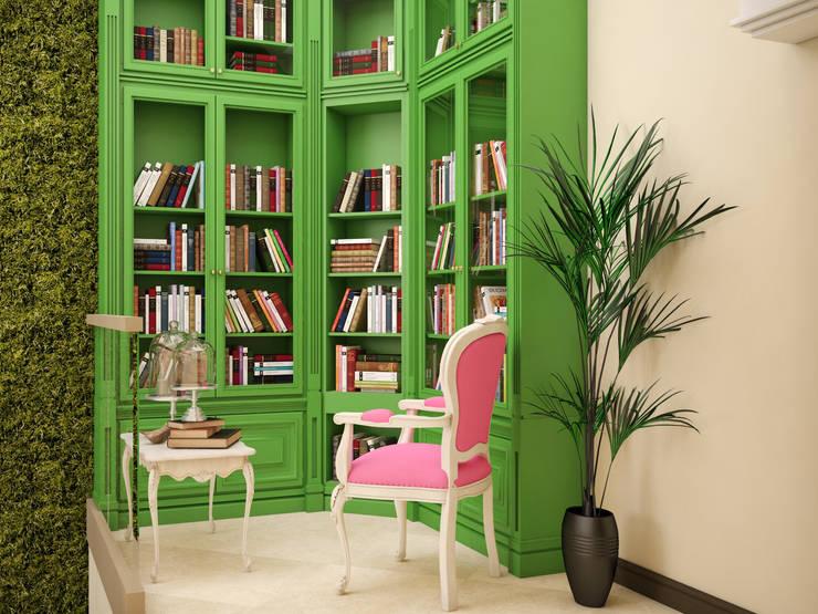 Projekty,  Domowe biuro i gabinet zaprojektowane przez Tatiana Zaitseva Design Studio