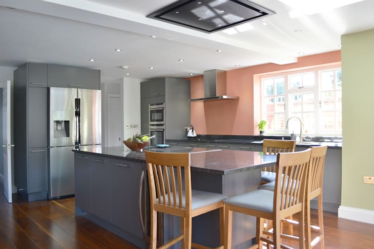 Kitchen And Roof Light - As Built:   by Arc 3 Architects & Chartered Surveyors