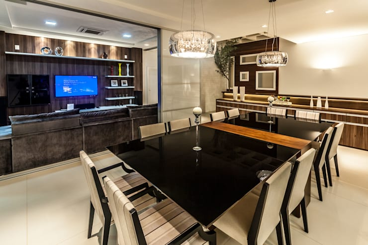 casa rg Salas de jantar modernas por grupo pr   arquitetura e design Moderno