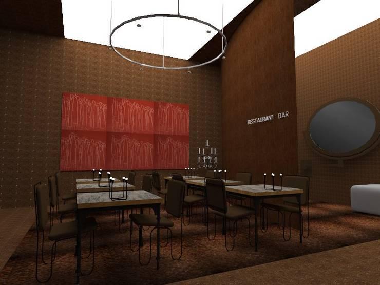 Restaurante & Bar: Espaços de restauração  por  IDesign.art by Paula Gouveia
