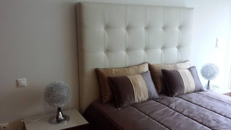 Apartamento T2: Quarto  por Decoracoes Gina, Lda