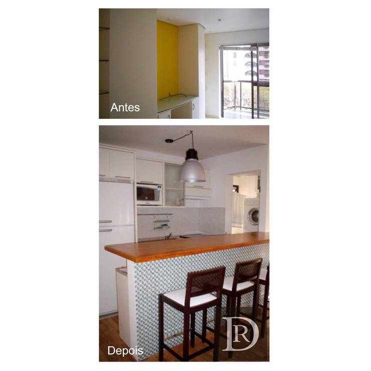 LOFT   Cozinha Integrada:   por Debora de Rezende   arquitetura e interiores