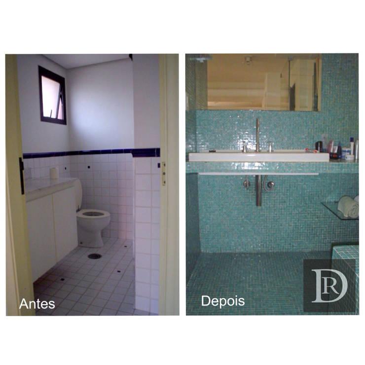 LOFT   Banheiro :   por Debora de Rezende   arquitetura e interiores